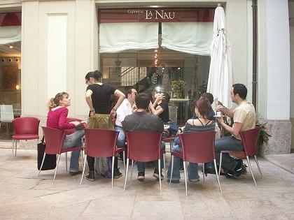 group of artists at La Nau Café